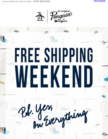 Free Shipping This Weekend Only