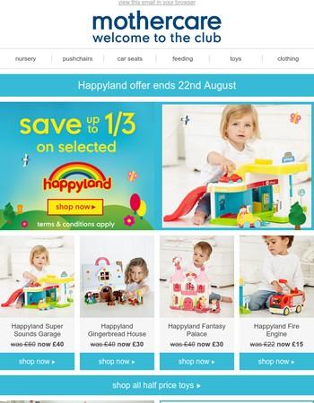 happyland savings + parenting essentials