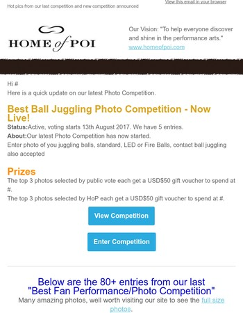 Juggling Ball Photo Competition