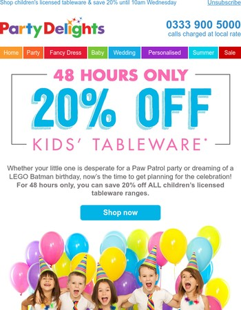 Planning a kids' birthday party?