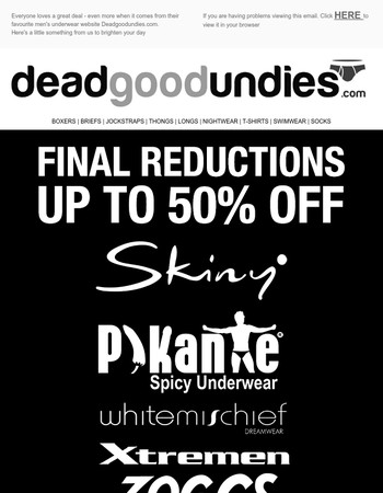 FINAL REDUCTIONS - up to 50% off - ENJOY!