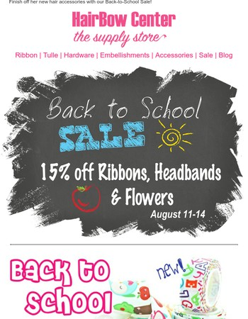 Back-to-School Sale Ends Tonight at the HairBow Center!