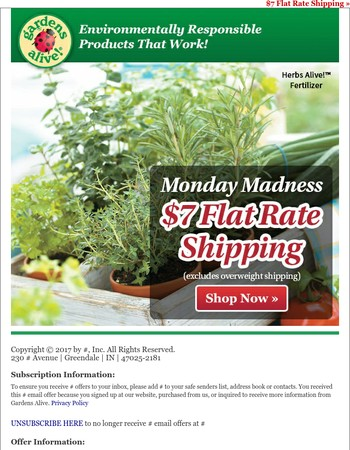 Say YES to flat rate shipping!