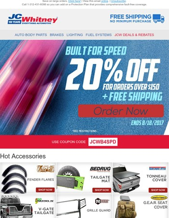 Save on parts with our coupon code JCWB4SPD and up to $200 in rebates