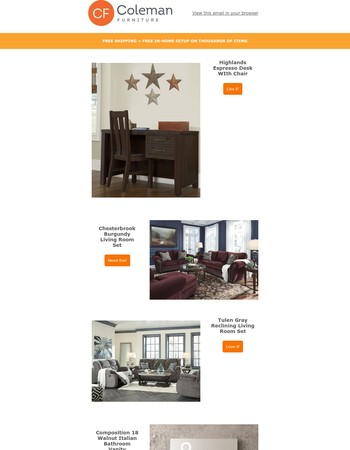 New Furniture Finds for You!