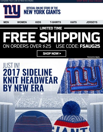 JUST ARRIVED: Giants Official On-Field Knits for the New Season