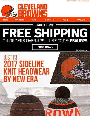 JUST ARRIVED: Browns Official On-Field Knits for the New Season