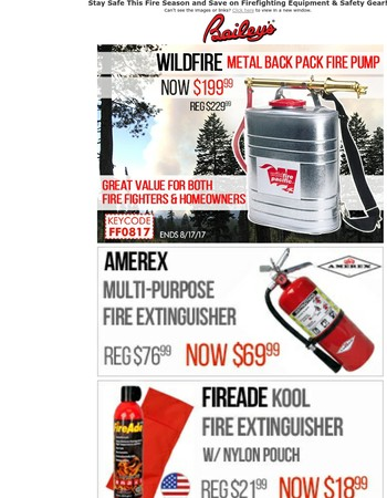 Mary: Stock Up On Firefighting Equipment and Safety Gear Inside