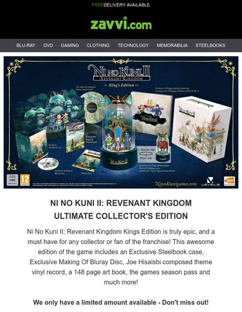 Ni No Kuni II: Revenant Kingdom Collector's Edition! | 5 for £30 Blu-ray | Unmissable Deals!