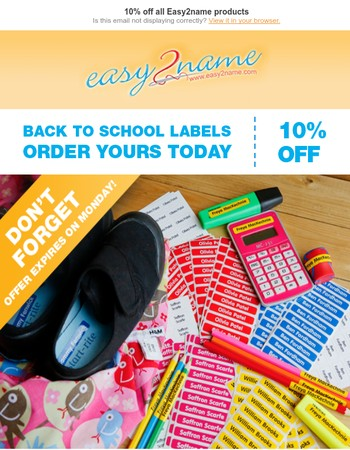 LAST CHANCE! 10% off all Easy2name products
