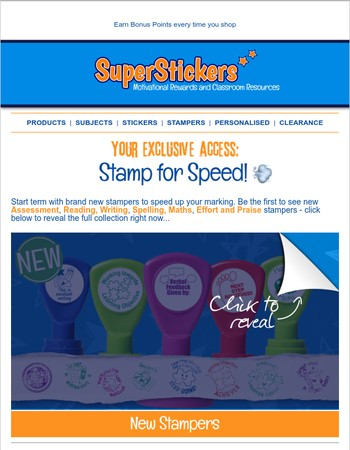 Brand New Stampers - Your Exclusive Access!