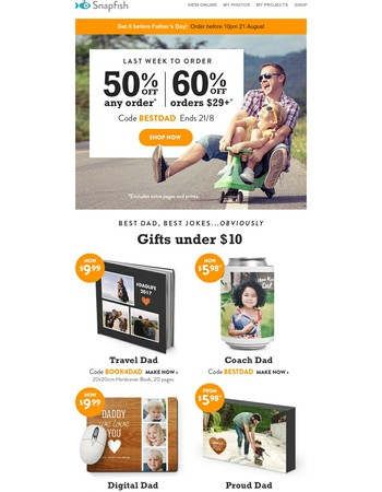 Under $10 Father's Day gift: go!