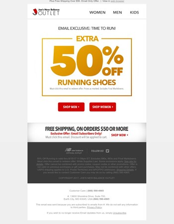Ends Tomorrow: 50% Off Running Shoes (Private Sale)