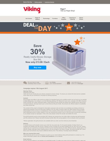 Deal of the Day: save 30% on Really Useful Boxes storage boxes