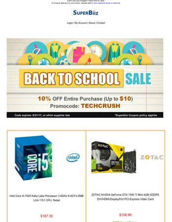 Tech Sale for New School Year - 10% OFF entire purchase*