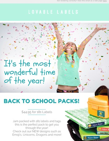 We've got you covered for Back to School