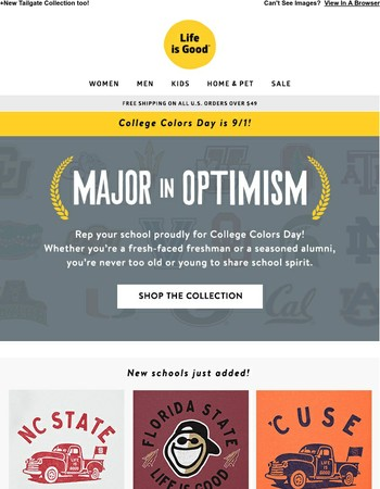 New college tees! Go [your school here]!!