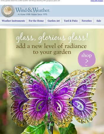 Add glorious glass to the garden
