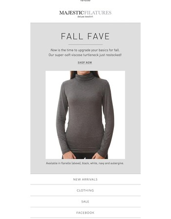 Now is the time to upgrade your basics for fall!