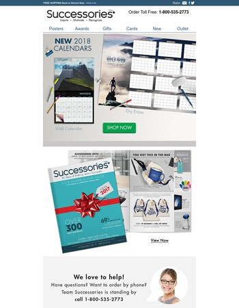 2018 Calendars have arrived - Get motivated every month.