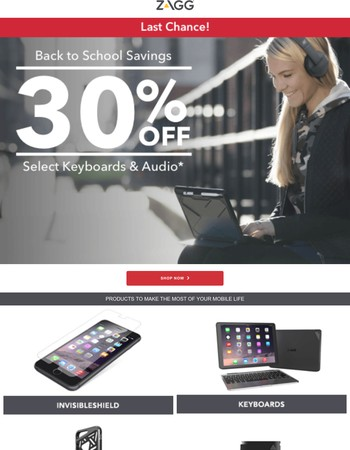 Last Chance for 30% off Keyboards and Audio!