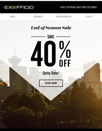 Save 40% OFF–Spring Styles