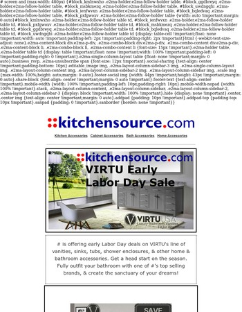 Early Labor Day Deals - Save up to 70% on VIRTU Bathroom Items
