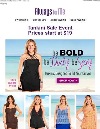 Trendy Tankinis $19 and up