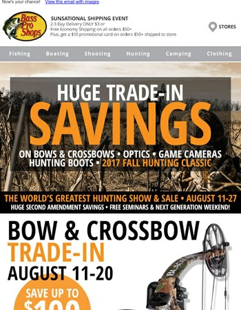 Want to trade in your bow or optics?