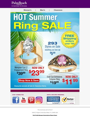 HUGE Sale - All Rings 40% OFF ⏳