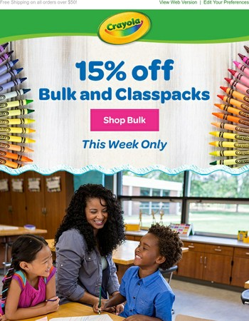 This week ONLY! 15% off Bulk Supplies
