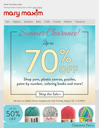 Our Summer Clearance Sale is on!