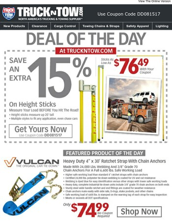 Height Stick Sale - Save An Extra 15% On Load Height Measurement Devices