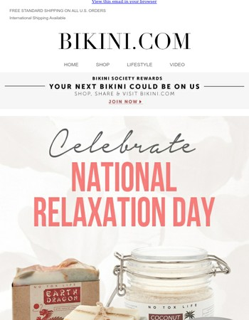 Celebrate National Relaxation Day with 20% off Beauty, Floats and more!