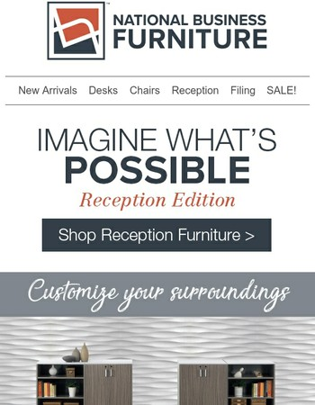 A welcoming entry: Reception furniture that inspires