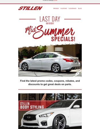 Act Now! – Final Hours to SAVE on STILLEN's Mid-Summer Sale!
