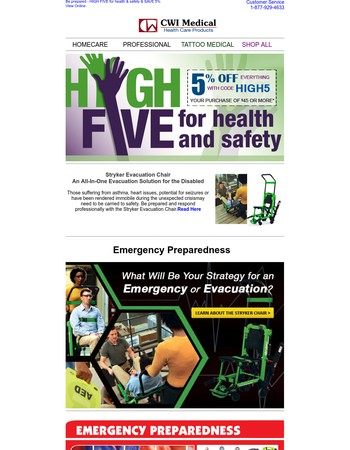 HIGH 5 for Health & Safety & Save 5% on EVERYTHING