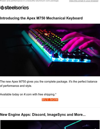 Introducing Apex M750 RGB Mechanical Keyboard