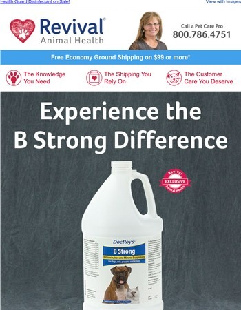 Experience the B Strong Difference