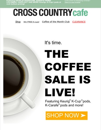 ☕  The coffee sale is live! ☕