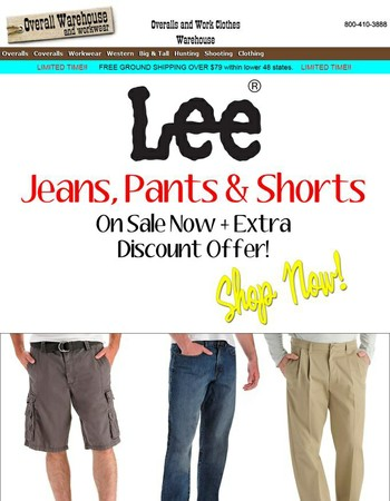 Extra Discount Off Lee Apparel! Get Yours Today and Save.
