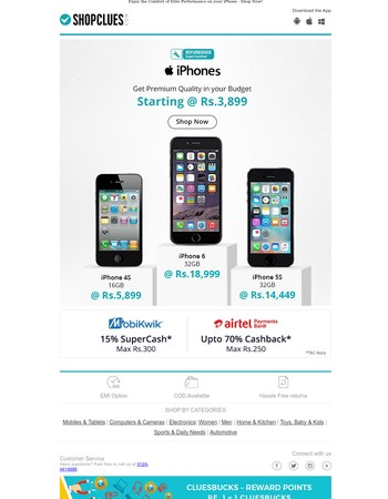 Refurbished iPhones Starting @ Rs.3,899
