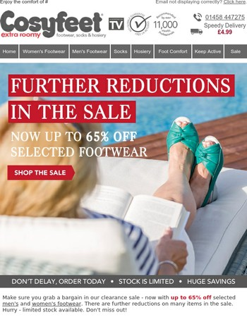 Further sale reductions - Now up to 65% off