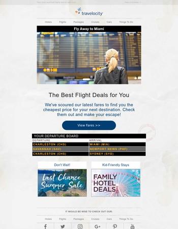 Great flight values to Miami!