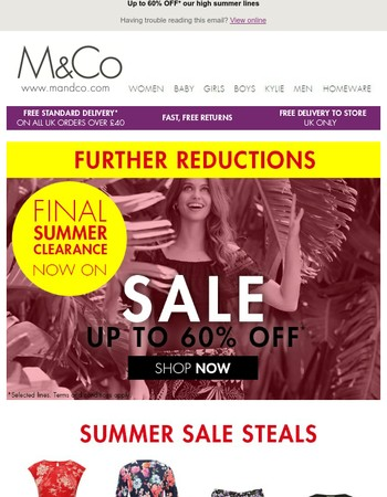 SALE just got better - further reductions now live!
