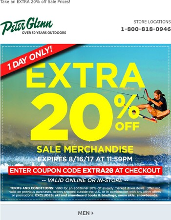 1 Day Only! 20% OFF Coupon!