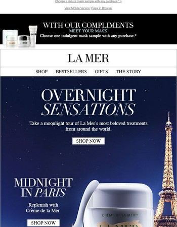 Discover Our Overnight Sensations & Your Mask of Choice, On Us