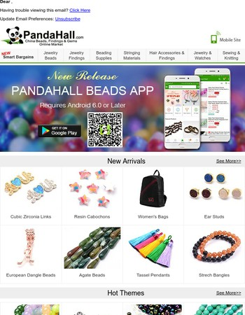 NEW RELEASE---PANDAHALL BEADS APP