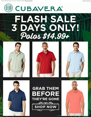 Polo FLASH SALE: 3 Days Only!