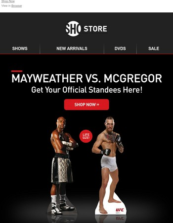 Get Your Life Size Mayweather and McGregor Standees!